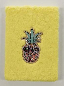 Anteckningsbok Plysch Ananas