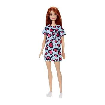 Barbie docka Rött hår Ljus Blå klänning med hjärtan
