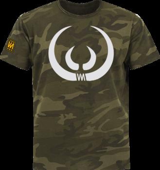 Wild boar tusks t-shirt camouflage