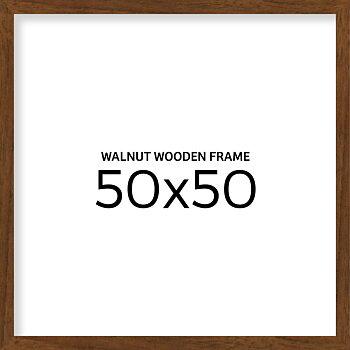 Valnøtt treramme 50x50 cm