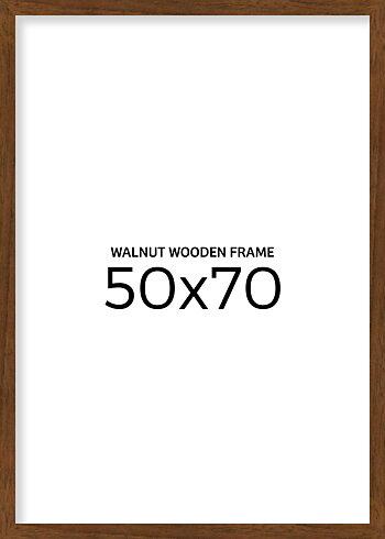 Walnut wooden frame 50x70 cm