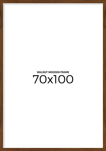 Valnöt träram 70x100 cm