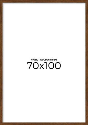 Walnut wooden frame 70x100 cm