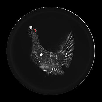 Capercaillie black - Round tray Ø38cm