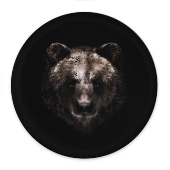 Brown bear in the dark - Round tray Ø38cm