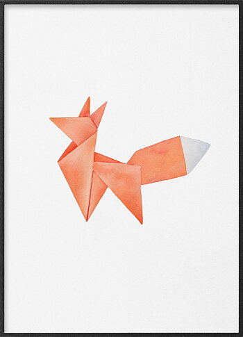 Red fox origami