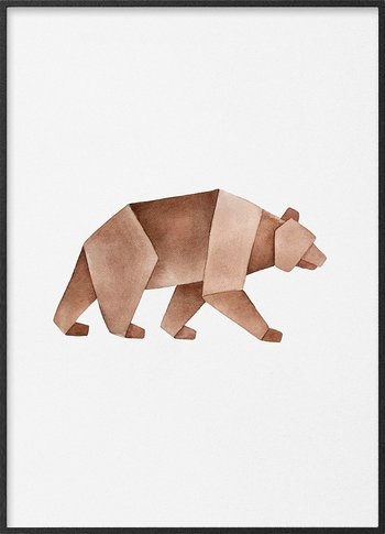 Brown bear origami