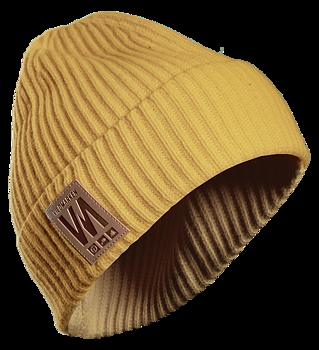 Vildmarken knitted beanie mustard yellow
