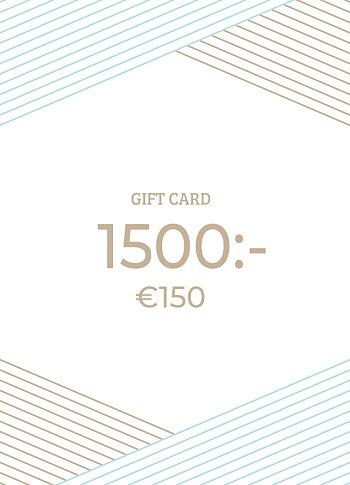 Gavekort 1500 NOK