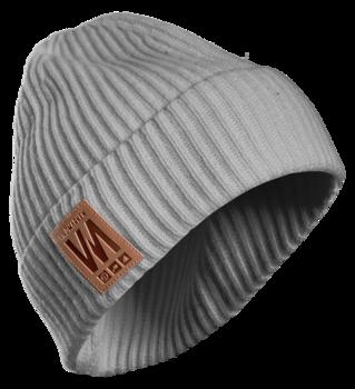 Vildmarken knitted beanie grey
