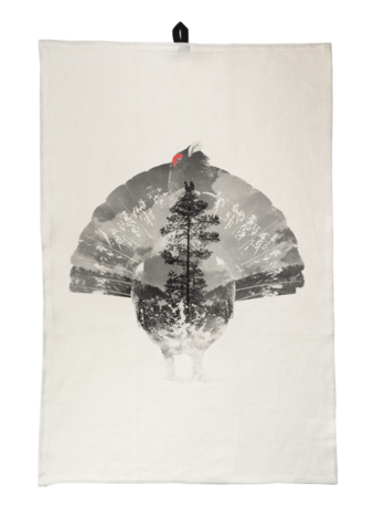 Tjäder - Kökshandduk 45x65 cm