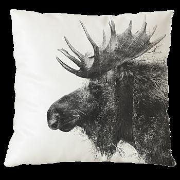 Älg av skog - Kuddfodral 50x50 cm