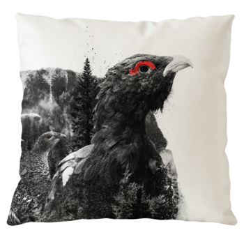 Capercaillie portrait - Pillow case 50x50 cm