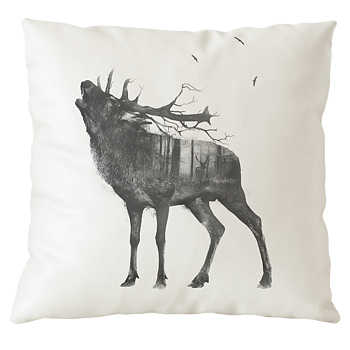 Bellowing stag - Pillow case 50x50 cm