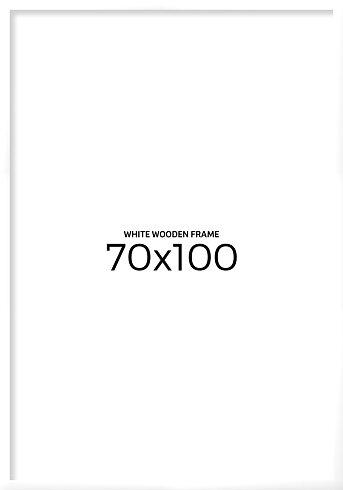 White wooden frame 70x100 cm