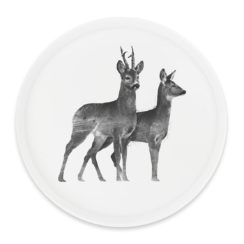 Roedeer couple - Round tray Ø38cm