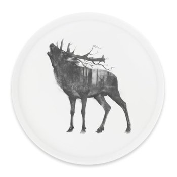 Red deer - Round tray Ø38cm