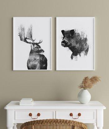 Furious wild boar