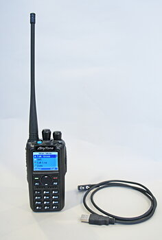 Anytone AT-D878UV DMR-radio dubbla band, GPS