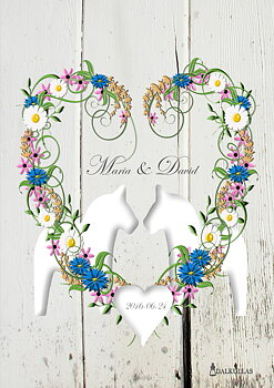Wedding painting - Summer wreath