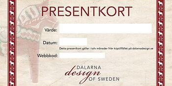 Presentkort - Du väljer summan från 100-5000