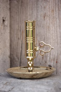 Candlestick, Brass, height 75 mm