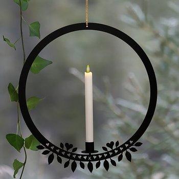 Ljusring - 40 cm vit eller svart