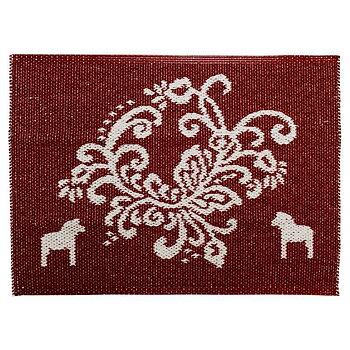 Kurbits doormat with Dala horses 50x70 cm - Reversible vinyl mat