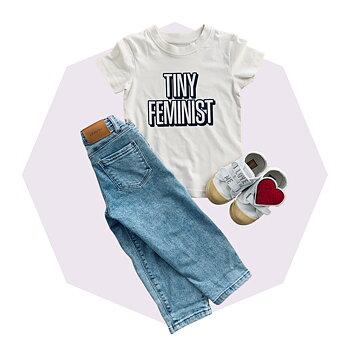 T-shirt tiny feminist eko