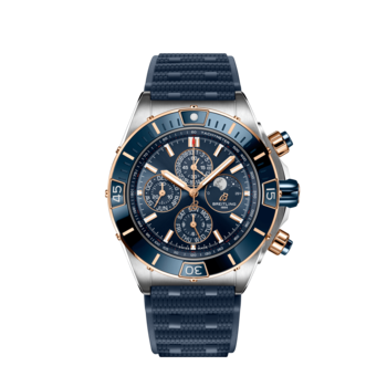 Breitling Super Chronomat 44 Four-Year Calender Blå