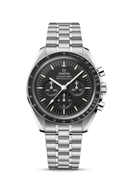 Omega Speedmaster Moonwatch Professional Co-Axial Master Chronometer Chronograph 42 mm, Safirglas