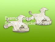 Manschettknappar Ylande varg, guld 18k