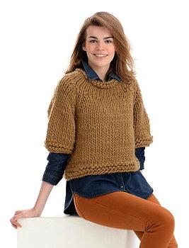 125-02 tøff genser med halv erme