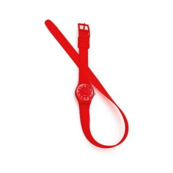 Unisex-klocka med extra långt armband 143969, Färg: Röd