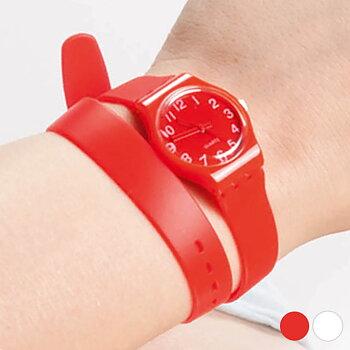 Unisex-klocka med extra långt armband 143969, Färg: Vit