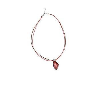 Damhalsband med tre kedjor (2,6 - 23 cm) 147193, Färg: Röd