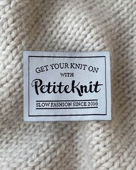 Petitknit- Tygmärke - GET YOUR KNIT ON