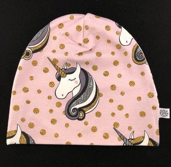 Trikåmössa - Unicorn rosa