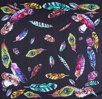 Klassisk mönstrad sidenscarf  från Amanda Christensen