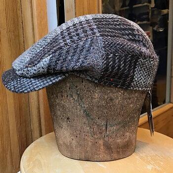 Brunrutig Harris Tweed keps från Wigéns