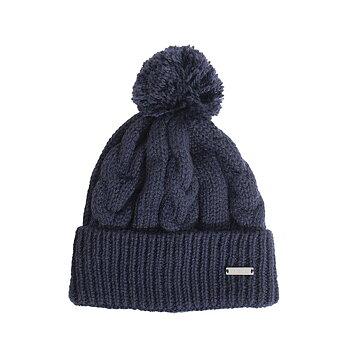 Åsarp, mörkblå, stickad mössa i 100% norsk ull, från Sätila
