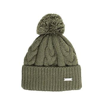 Åsarp, grön, stickad mössa i 100% norsk ull, från Sätila