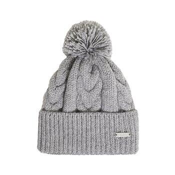 Åsarp, grå, stickad mössa i 100% norsk ull, från Sätila