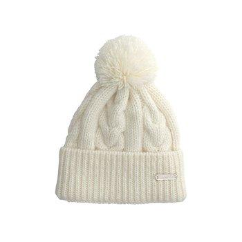 Åsarp, vintervit, stickad mössa i 100% norsk ull, från Sätila