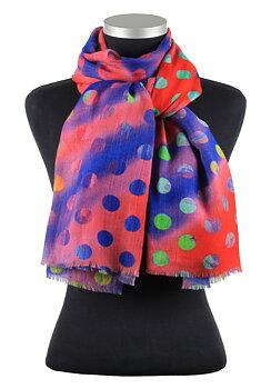 Melizza, vacker ullsjal med flerfärgat tryck från LindaLykke