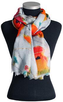Mönstrad sjal i modal/silke från LindaLykke