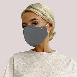 5-lagers Munskydd med näsklämma, L  - Christine Headwear