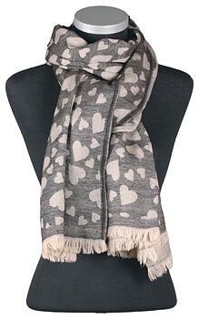 Joy, jacquard sjal i ull, från LindaLykke