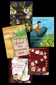 Sagans värld - alla böckerna och målarbok