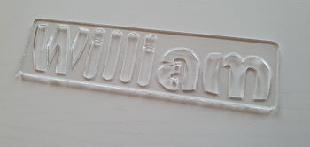 Drawing stencil with name - Soltopp